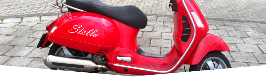 Scooter Lettering